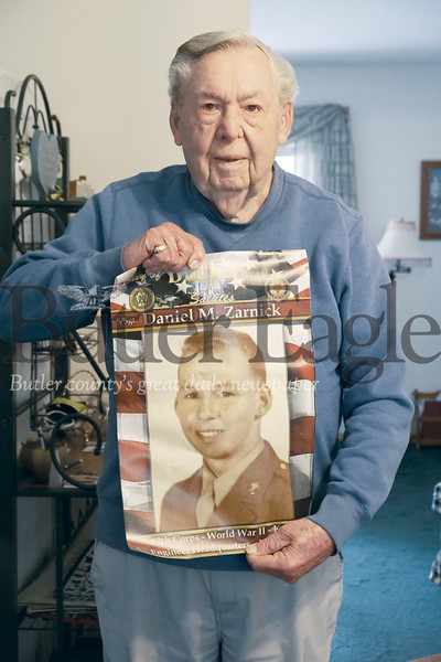 Daniel Zarnick, 96, of Butler wanted to enlist in the Navy but was turned down due to cavities and at 19-years-old was drafted into the Army to serve in World War II. Zarnick worked as a  stenographer in the engineering section of the XII U.S. Army Corps.