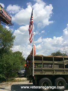 Air Operated Mast / Flag Pole on M35A2 Deuce