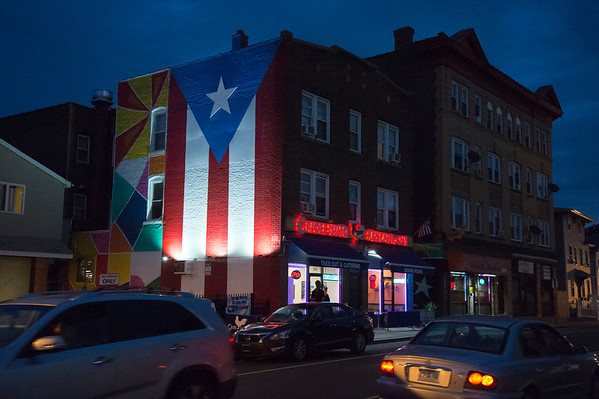 08/28/19 Wesley Bunnell | Staff A large flag of Puerto Rico has recently been painted onto the side of the building housing Criollisimo Restaurant at 340 Arch St in New Britain.