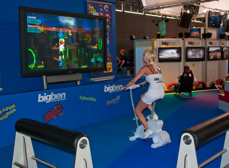 Wii Bike at GamesCom