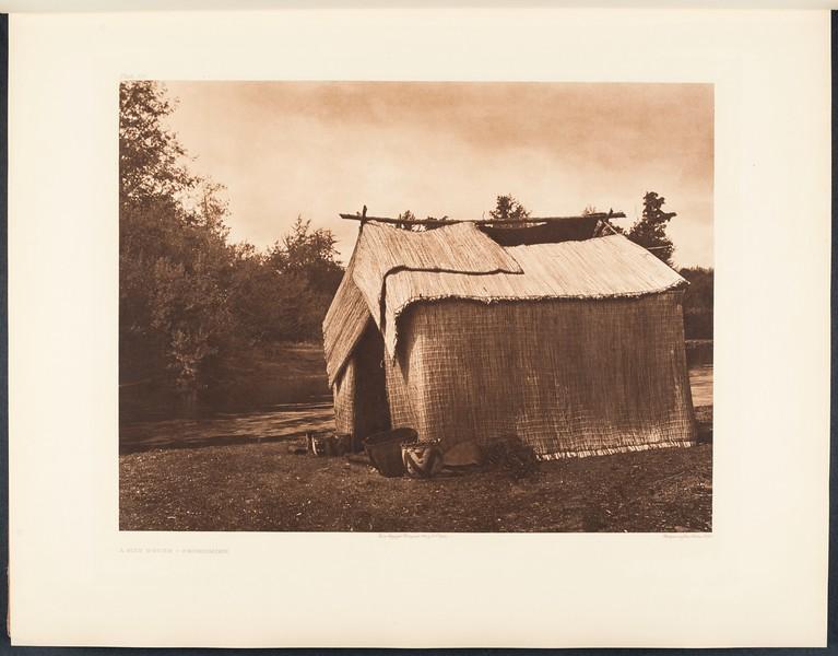 The North American Indian, vol. 9 suppl., pl. 301. A mat house - Skokomish