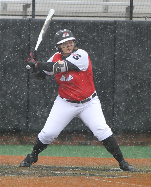 Gardner-Webb's Softball team takes on Canisius College in the snow.