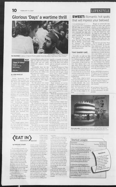 Daily Trojan, Vol. 160, No. 25, February 14, 2007