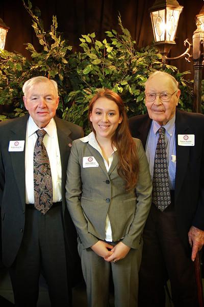 Ralph Dixon Sr, Robert, Warlick, Kelsi Zaldivar. Scholarship Luncheon at Gardner-Webb University.