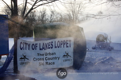 2008 City of Lakes Loppet Snow Making