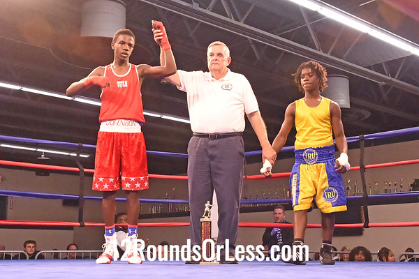 Bout 9 Shavele Johnson, Red Gloves, Columbus -vs-  Devin Young, Blue Gloves, Cleveland, 112 lbs