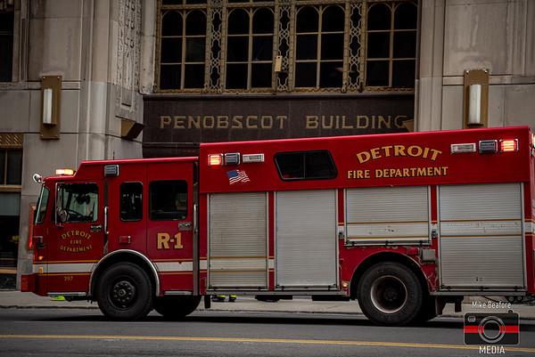 Detroit MI, Commercial Fire 1-17-2020