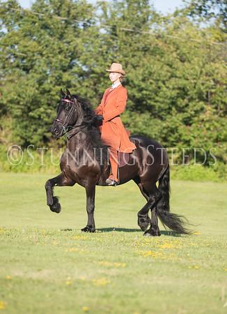 Kobus under saddle