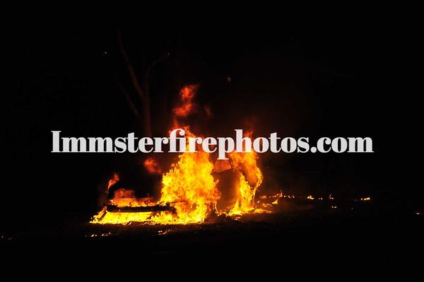 MELVILLE FD CAR FIRE MVA S SERVICE RD 12-26-11