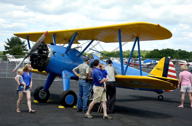 6/7/2014 Mike Orazzi | Staff The third annual Wings and Wheels at Robertson Airport Saturday in Plainville Saturday.