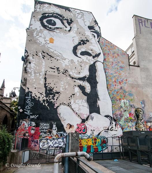Mural near Pompidou Center