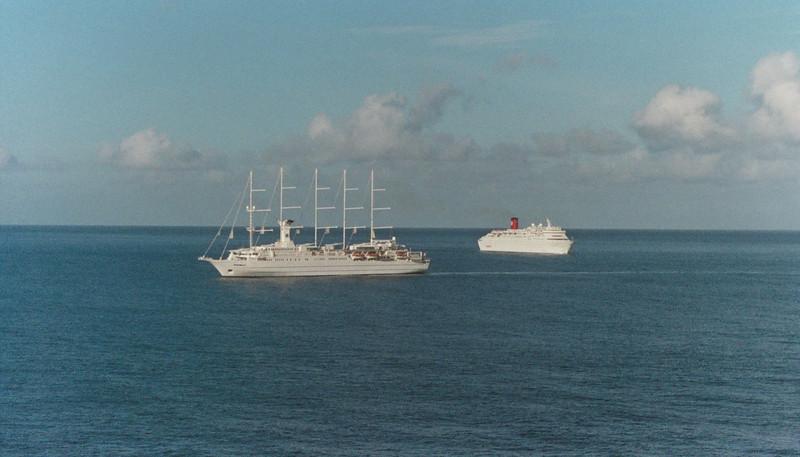 Several ships arrive at Grenada at the same time.