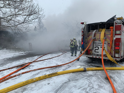 Carol Stream attached Garage fire 1/12/19