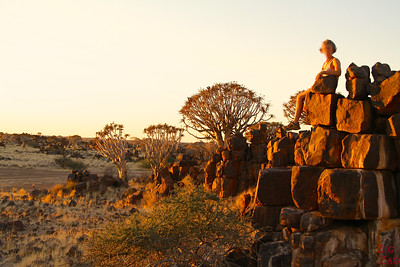 Sunset Giants playground and quiver tree, Namibia photo 1