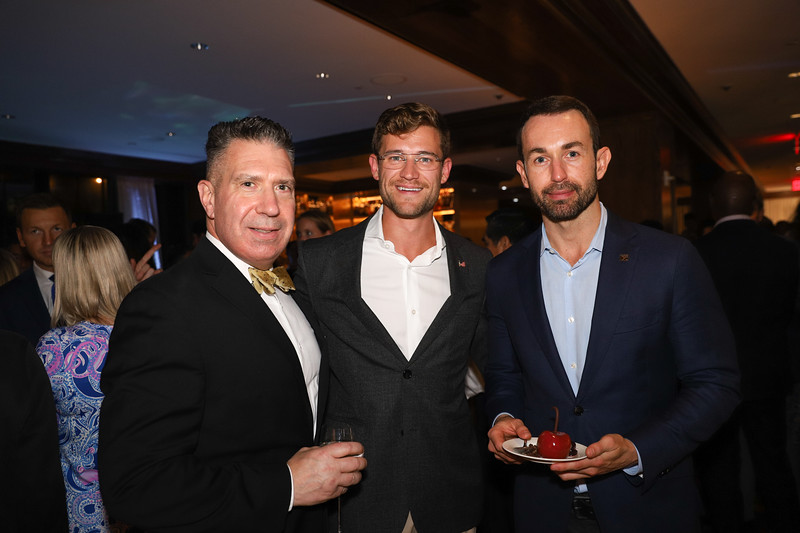 Timothy Edgecombe, Jared Carroll, Bruno Schwartz. photo by Bruce Allen, Wolfgang Puck Opening Reception 2019