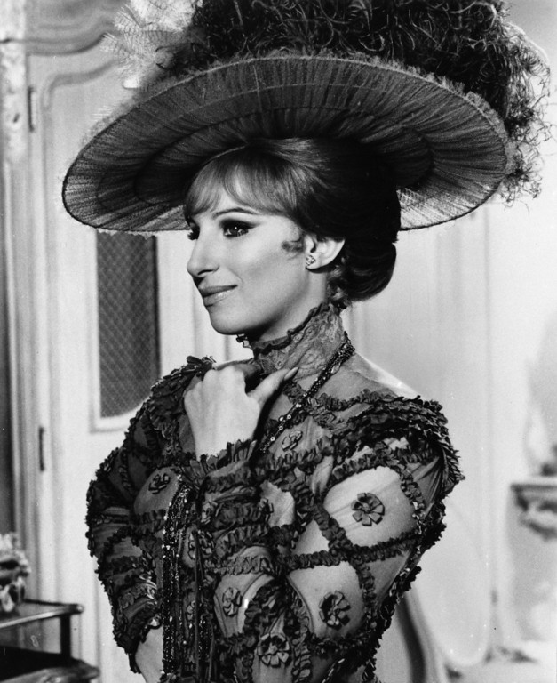 ". Barbra Streisand is shown in the starring role of Dolly Levi, the matchmaker, in the movie version of the musical ""Hello Dolly,\"" which is in production in this photo dated June 11, 1968.  (AP Photo)"