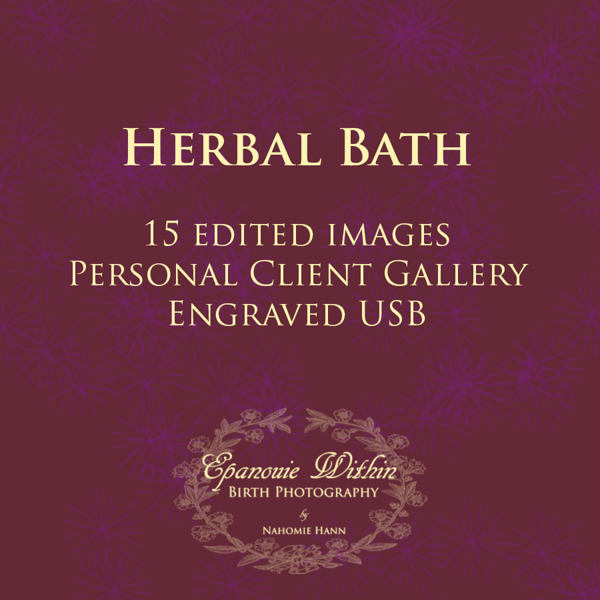 Herbal Bath Photography Session