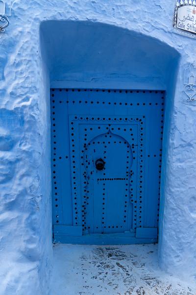 Blue door in Chefchaouen, Morocco