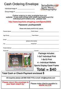 Youth Sports Package Ordering Information