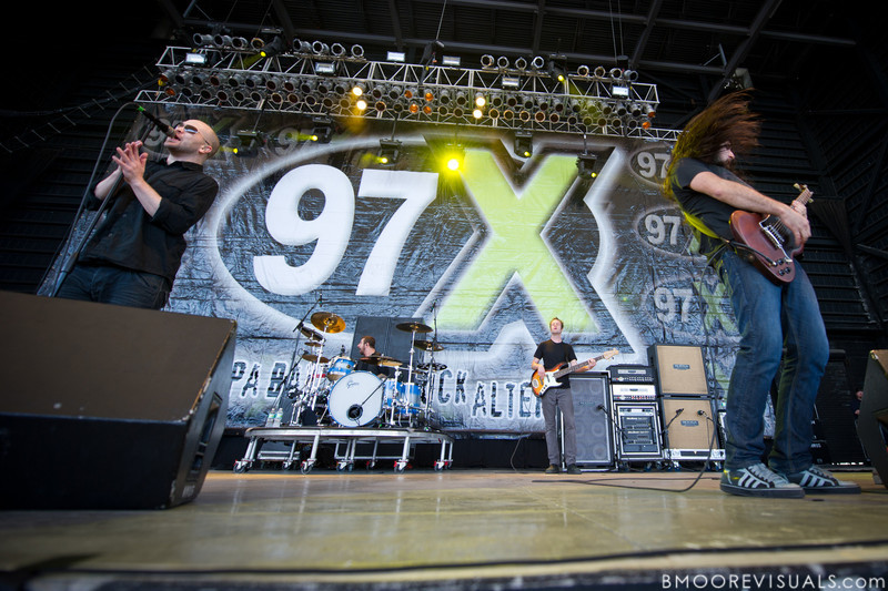 Scott Anderson, Rich Beddoe, and Rick Jackett of Finger Eleven perform on December 5, 2010 during 97X Next Big Thing at 1-800-ASK-GARY Amphitheater in Tampa, Florida