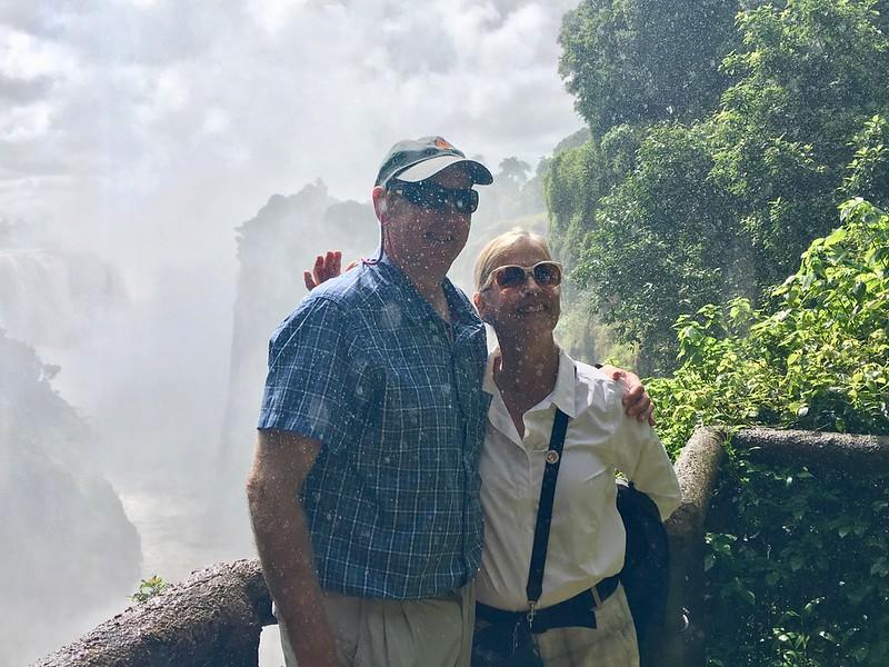 Sparky and Lisa at Victoria Falls - Rob Williamson
