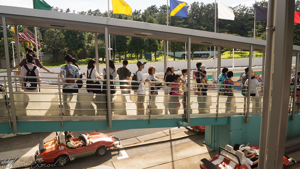 Tokyo Disney Resort, Tokyo Disneyland, Tomorrowland, Autopia, Grand Circuit Raceway, Grand, Circuit, Raceway, Cars