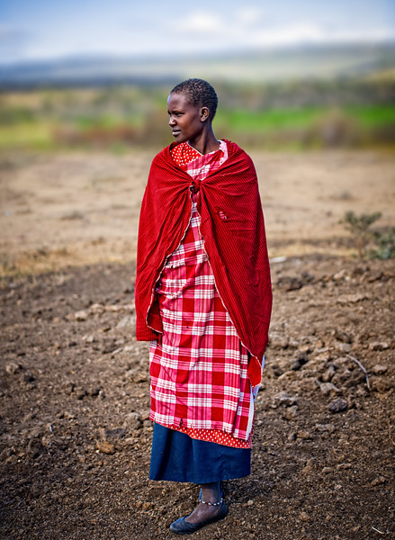 Maasai woman in traditional red - www.rajguptaphotography.com