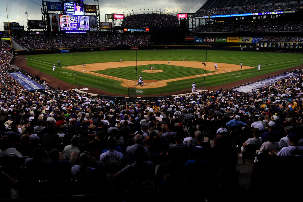 . DENVER - JUNE 28: The crowd watches a pitch during the fifth inning of a baseball game against the Colorado Rockies and the San Francisco Giants on June 28, 2013. (Photo By Grant Hindsley / The Denver Post)
