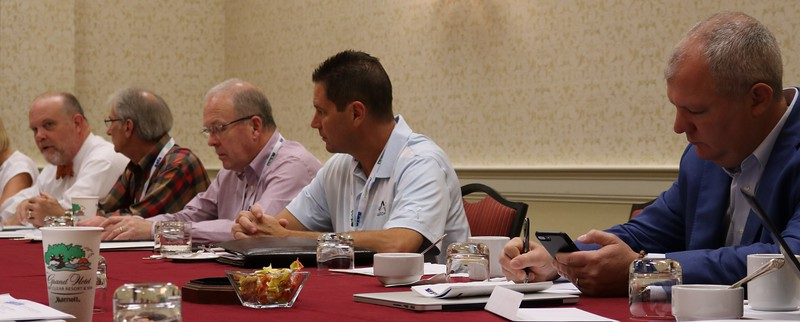 Board Members hard at work Dr. Larry Beaver, Pierce Pillon, Jack Finnell, Ed Freesmeier, Eric Dann