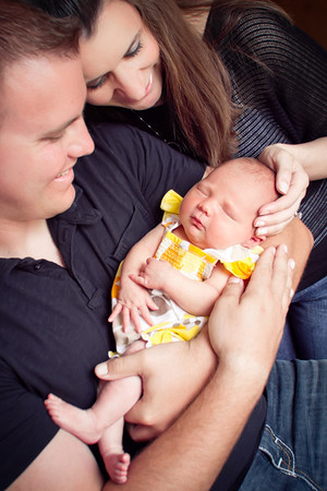 Preslee { Newborn + Family }