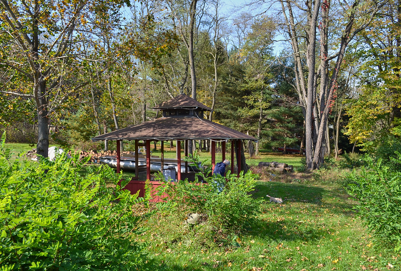 Larry Lebin, in adjacent gazebo.  Oct 16 2011