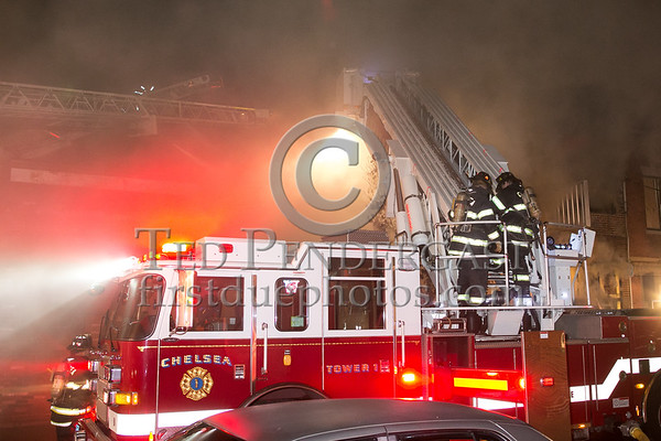 Chelsea MA - 2 Alarms on Congress Ave