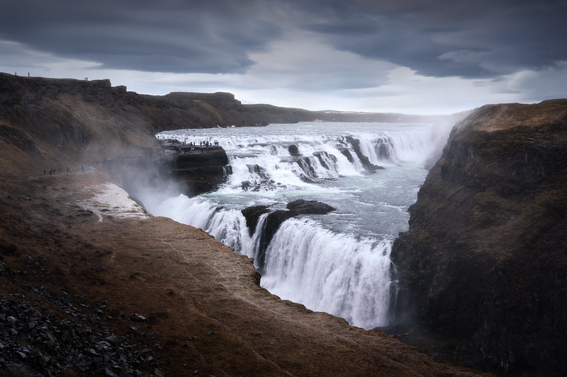 Gullfoss Iceland landscape photography clouds waterfall big_1.jpg