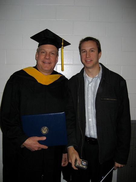 Dec 2008, Jeff recieves his masters degree