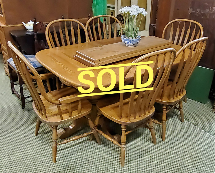 Country Oak Dining Table Set