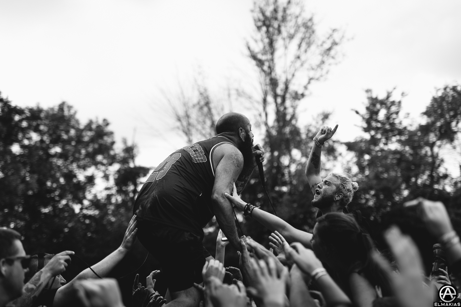 Joel Quartuccio of Being As An Ocean live at Vans Warped Tour 2015 by Adam Elmakias