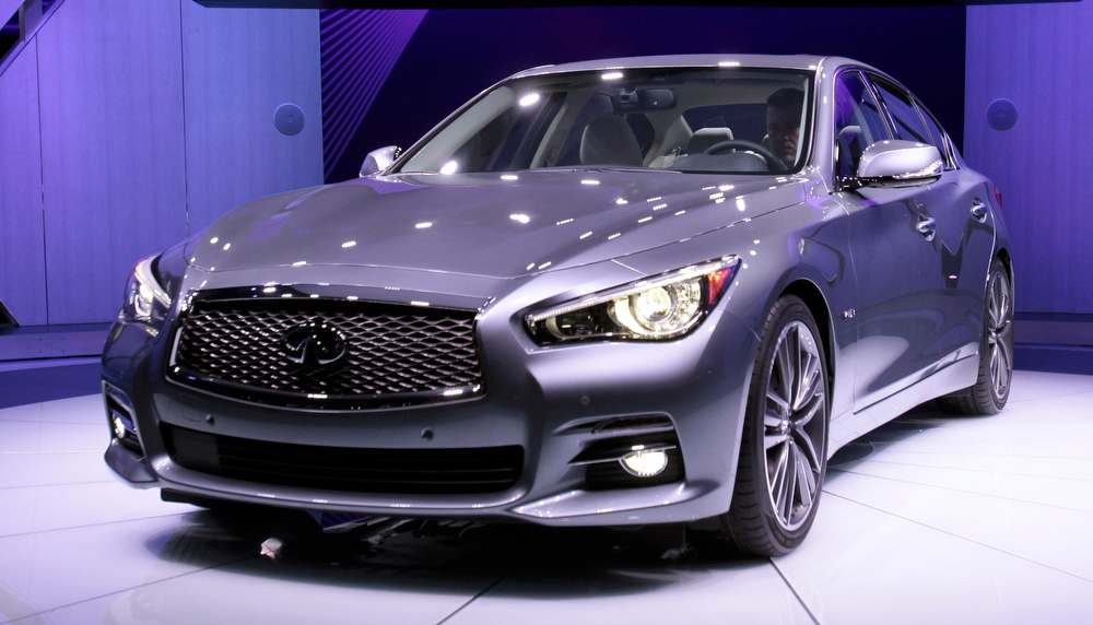 . The Infiniti Q50 sport sedan is introduced at the North American International Auto Show in Detroit, Michigan January 14, 2013. REUTERS/Rebecca Cook