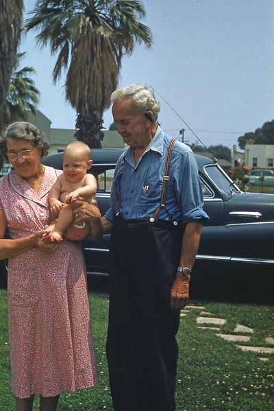 Grandma & Grandpa With Anne 1953