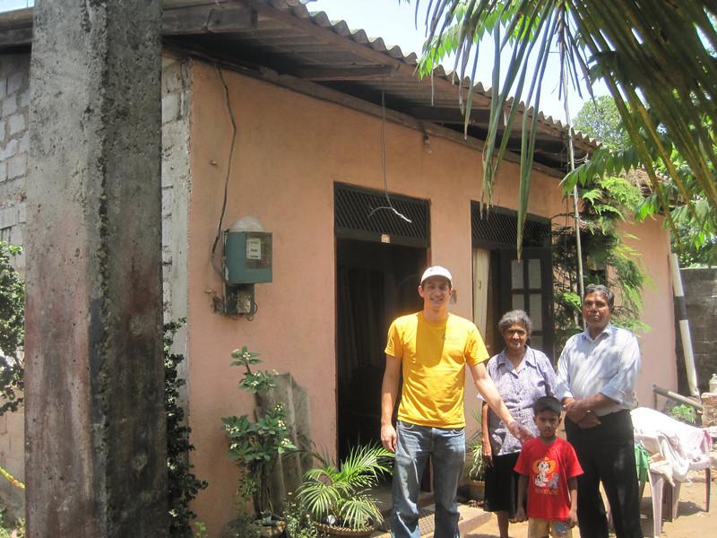 Ryan Iafigliola meets Fuller Center homeowners.