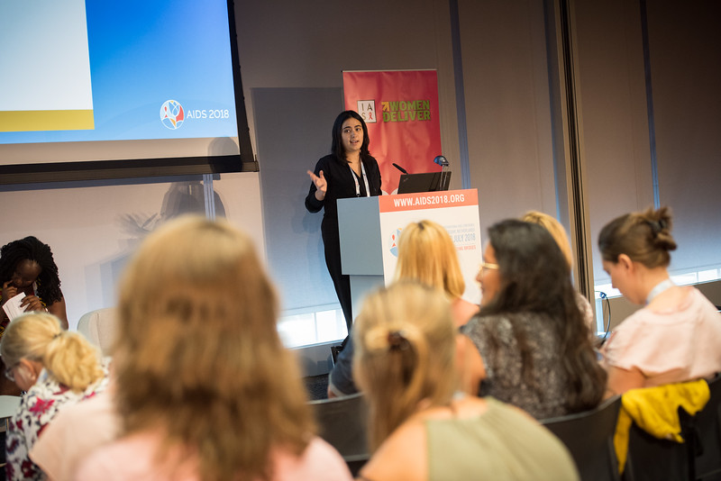 22nd International AIDS Conference (AIDS 2018) Amsterdam, Netherlands   Copyright: Marcus Rose/IAS  Photo shows: Generation Now: Our health, Our Rights. Putting Words into Action: Taking Integration Forward in our Movement. Speaker: Meri Cvetkovska, HERA, Macedonia, FYR.