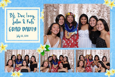 BJ, Dev, Izzy, Jalen, Kels Grad Party (Mini Open Air Photo Booth 2)