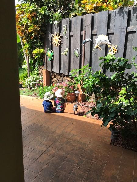Finn & Malia at our rental house