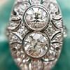 1.75ctw Edwardian Toi et Moi Old European Cut Diamond Ring  10