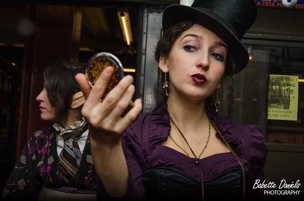 Steampunks On a Train!