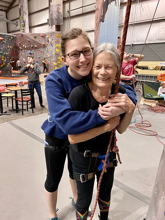 Climbing with Grandma