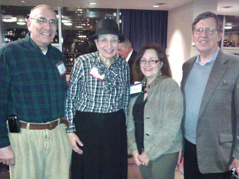 Member Morris Robinson, wife Debbie, Melissa Benowitz, AAA-CPA Meetings Administrator and Murray Saylor, Past President at the Welcome Happy Hour.