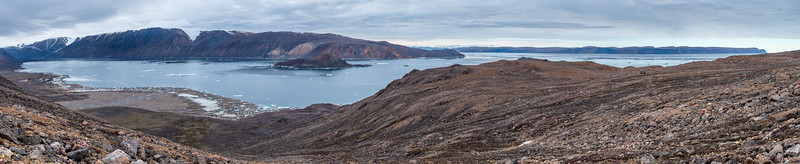 East hill above Camp, Alexandra Fjord