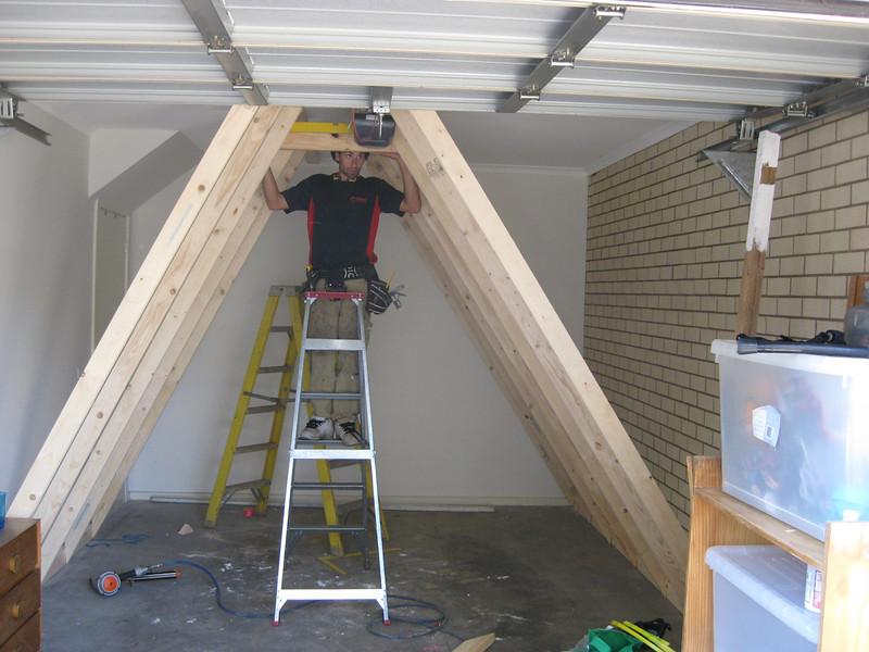 Construction Begins, Matt at work