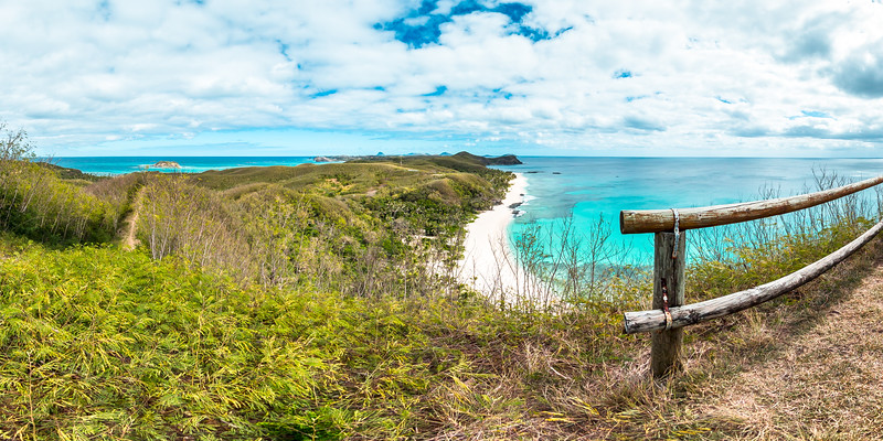 Lookout to Amazing Dazzling Beach - Yasawa - Fiji Islands