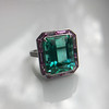 11.77ct Tourmaline Halo Ring by Leon Mege, AGL Cert 0